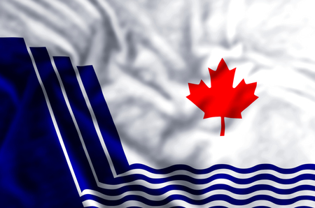 Scarborough Ontario stylish waving and closeup flag illustration. Perfect for background or texture purposes. Imagens