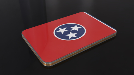 Tennessee Flag button series of the Unites States