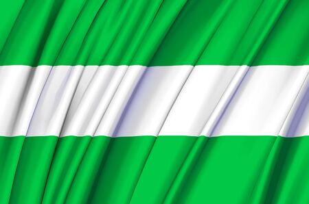 Los Rios waving flag illustration. Regions of Ecuador. Perfect for background and texture usage.
