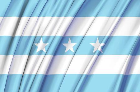 Guayas waving flag illustration. Regions of Ecuador. Perfect for background and texture usage. Banco de Imagens
