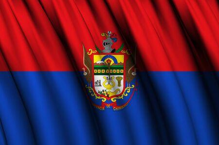 Chimborazo waving flag illustration. Regions of Ecuador. Perfect for background and texture usage. Banco de Imagens