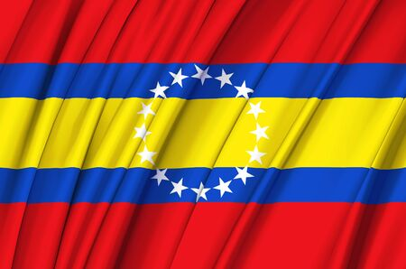 Loja waving flag illustration. Regions of Ecuador. Perfect for background and texture usage.
