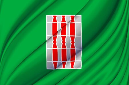 Umbria waving flag illustration. Regions of Italy. Perfect for background and texture usage. Фото со стока