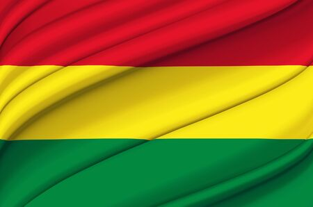 Bolivia waving flag illustration. Countries of North and Central America. Perfect for background and texture usage. Reklamní fotografie