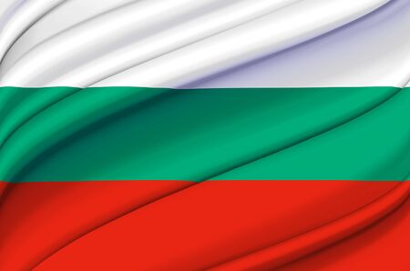 Bulgaria waving flag illustration. Countries of Europe. Perfect for background and texture usage. Zdjęcie Seryjne
