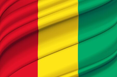 Guinea waving flag illustration. Countries of Africa. Perfect for background and texture usage.