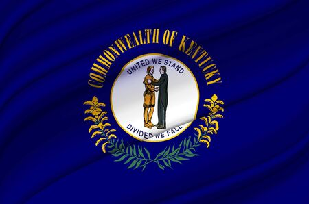 Kentucky waving flag illustration. US states. Perfect for background and texture usage.
