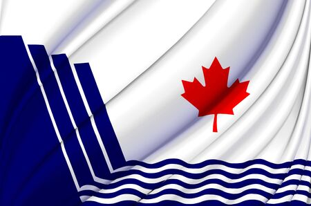 Scarborough Ontario waving flag illustration. States, cities and Regions of Canada. Perfect for background and texture usage.