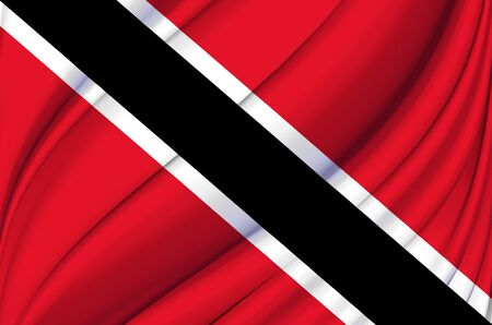 Trinidad And Tobago waving flag illustration. Countries of North and Central America. Perfect for background and texture usage.
