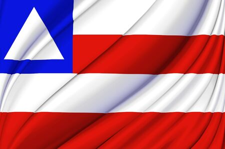 Bahia waving flag illustration. Brazilian states. Perfect for background and texture usage.