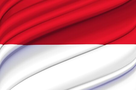 Monaco waving flag illustration. Countries of Europe. Perfect for background and texture usage.