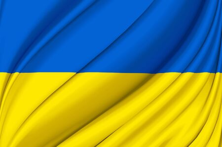 Ukraine waving flag illustration. Countries of Europe. Perfect for background and texture usage.