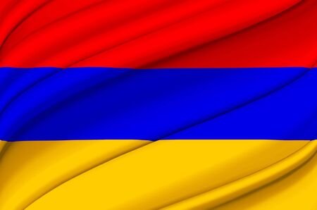 Armenia waving flag illustration. Countries of Europe. Perfect for background and texture usage.