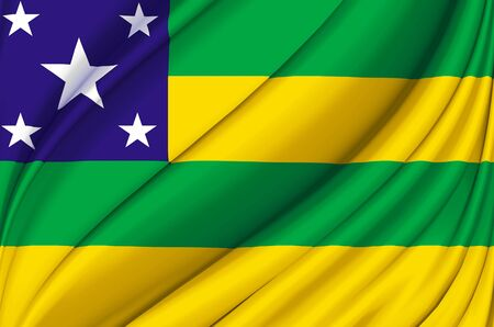 Sergipe waving flag illustration. Brazilian states. Perfect for background and texture usage.