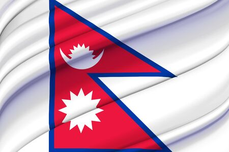 Nepal waving flag illustration. Countries of Asia. Perfect for background and texture usage.