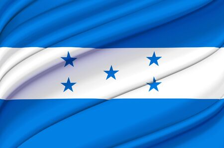 Honduras waving flag illustration. Countries of North and Central America. Perfect for background and texture usage.