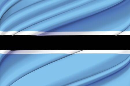 Botswana waving flag illustration. Countries of Africa. Perfect for background and texture usage.