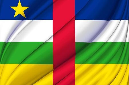 Central African Republic waving flag illustration. Countries of Africa. Perfect for background and texture usage.