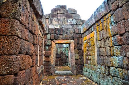 rung: the door laterite rock of Phanom Rung Historical Park Stock Photo
