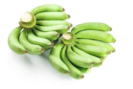 flesh colour: Raw banana isolated on white background.