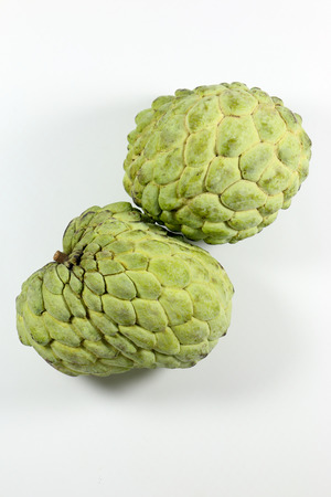 custard apple: Custard apple isolated on white background Stock Photo