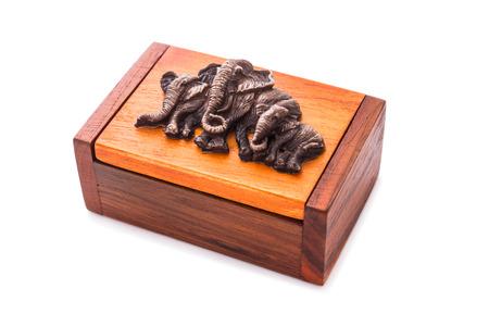 wooden handmade: Wooden handmade keepsake gift boxes isolated on white background. Close up, Horizontal image.