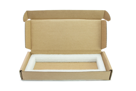 shipped: Cardboard boxes with foam cushioning inside.