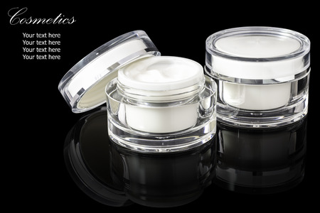 cosmetic container Stock Photo