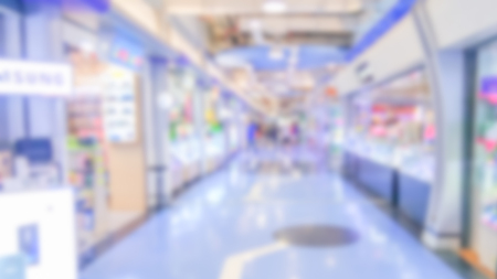 Abstract blurred department store - Blurred background of colorful and freshness modern retail, department store or retail store in shopping mall interior for a background, Shopping concept. Stock Photo - 98428320