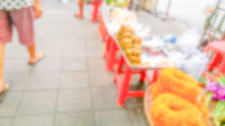 Description: Abstract blur market - Abstract blurred for the people along walking on the narrow street at the morning market. Stock Photo - 98428321