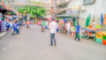 Description: Abstract blur market - Abstract blurred for the people along walking on the narrow street at the morning market. Stock Photo - 98368083