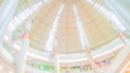Abstract blurred department store - Blurred background of colorful and freshness modern retail, department store or retail store in shopping mall interior for a background, Shopping concept. Stock Photo