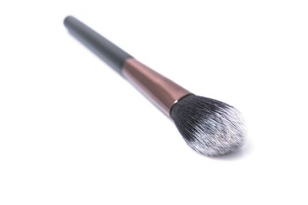 Cosmetic makeup brush, isolated on a white background. Selective Focus