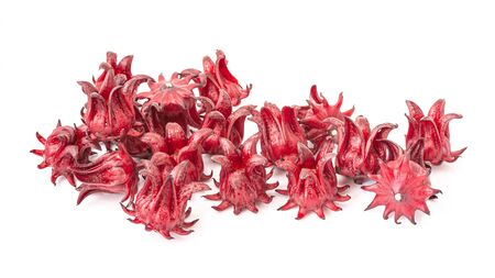 Roselle fruits, isolated on a white background. Zdjęcie Seryjne