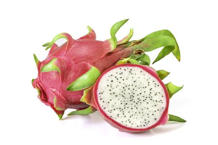 Dragon fruit isolated on a white background, clipping path included.