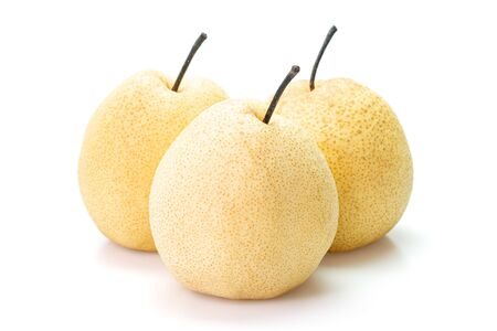 Chinese pears isolated on white background. Stock Photo