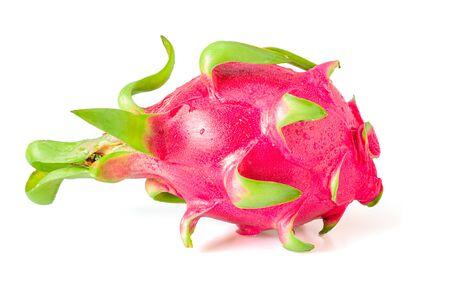 Dragon fruit or pitaya isolated on a white background