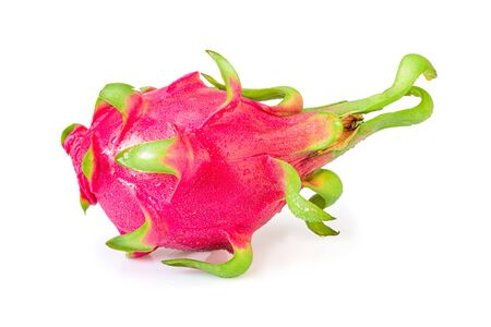 Dragon fruit, also called pitaya with isolated on a white background. Inclouding clipping path.