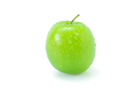 Fresh green jujube fruits isolated on white