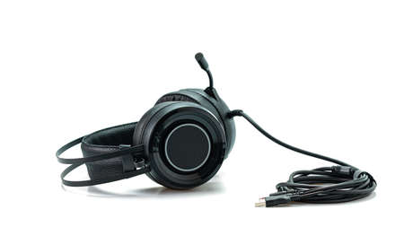High-quality black headphones on a white background.