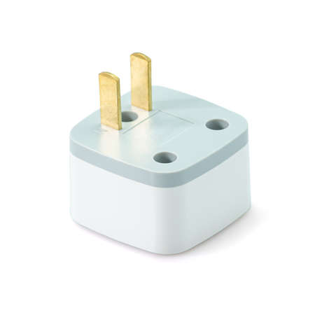 Electric plug isolated on white background. With clipping path.