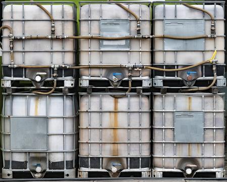 composting: Waste food composting tank equipment, Penang, Malaysia Stock Photo