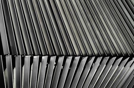 louver: Metal louver architectural facade detail, Bangkok, Thailand