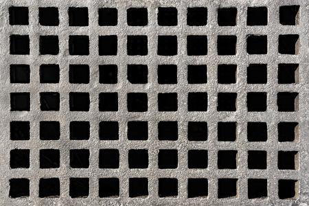 grate: Iron drain grate, Bangkok, Thailand