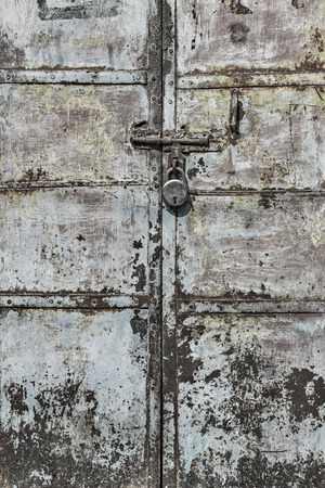 corroded: Corroded metal door, Jodhpur, Rajasthan, India