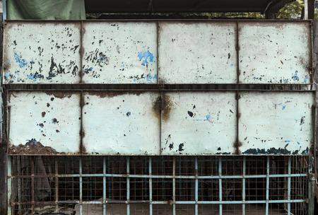 grungy: Grungy metal panel, Mandalay, Myanmar