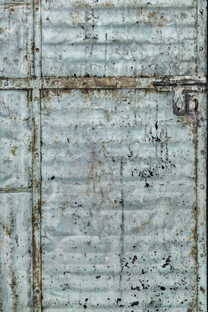 corroded: Corroded grungy metal door, Jodhpur, Rajasthan, India