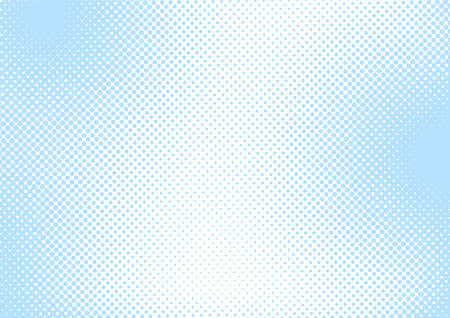 Baby blue pop art background in retro comic style with halftone dots, vector illustration dotted background design for a Boy Baby Shower card, poster, banner, etc Vektorgrafik