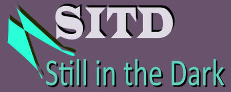 SITD abbreviation Still in the dark displayed with text and symbolic pattern on educational background for thought prints.