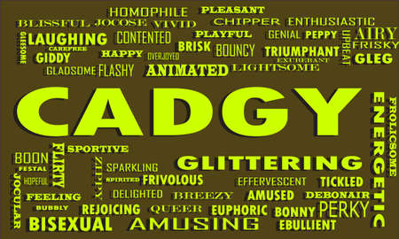 Cadgy Word reflect people love relation presented with similar type of text on educational abstract clouds.